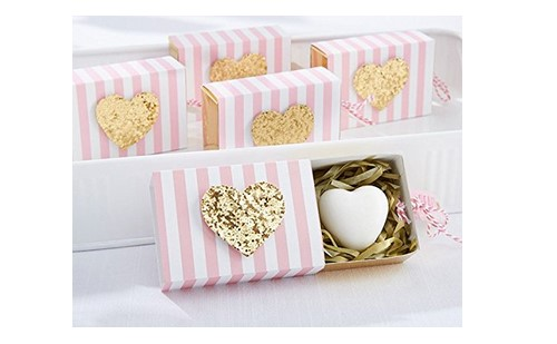 gold scented heart soap