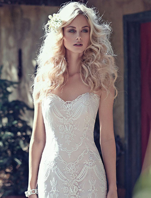 1920's style maggie sottero sweetheart wedding dress