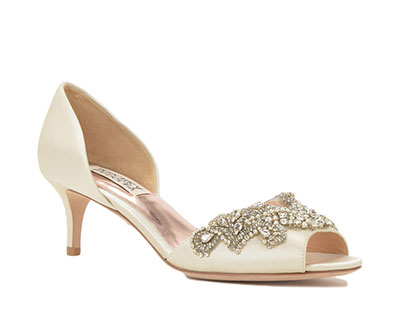 badgley mischka satin wedding shoes