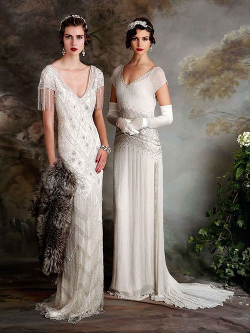 20s inspired wedding dresses for great gatsby wedding