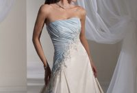 baby blue and white wedding dresses