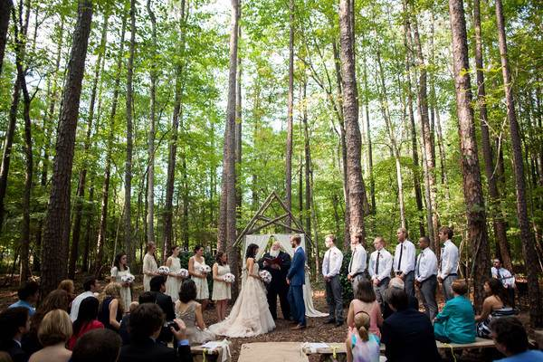 A Fresh and Natural Forest Wedding Venue