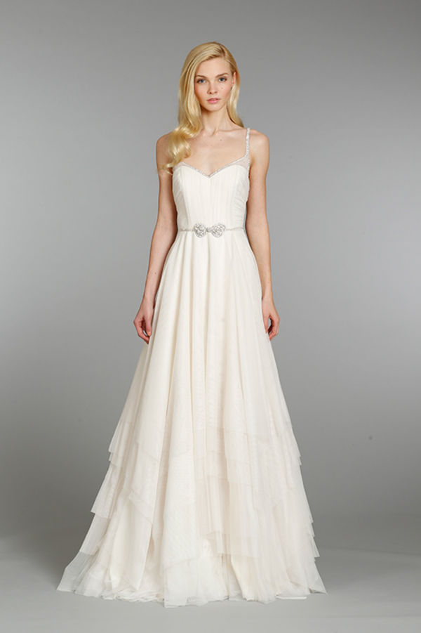 Beach style wedding dress david s bridal sang maestro for Davids bridal beach wedding dresses