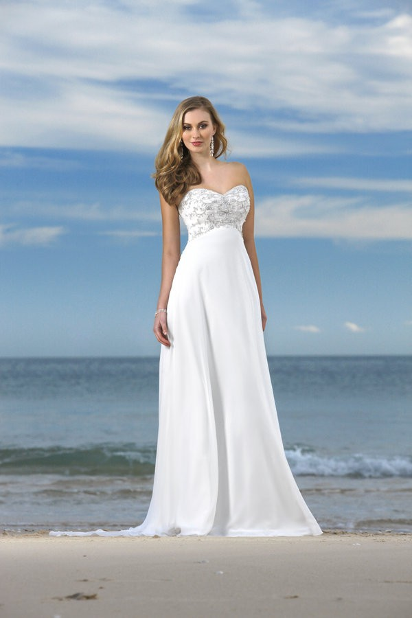 Stylish Beach Wedding Dresses : Elegant beach style wedding dresses david s bridal sang
