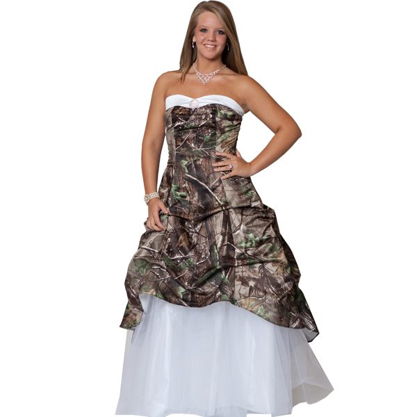 cheap plus size camo wedding dress