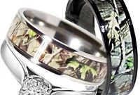 titanium camo wedding ring for women