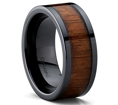 wood wedding band for men