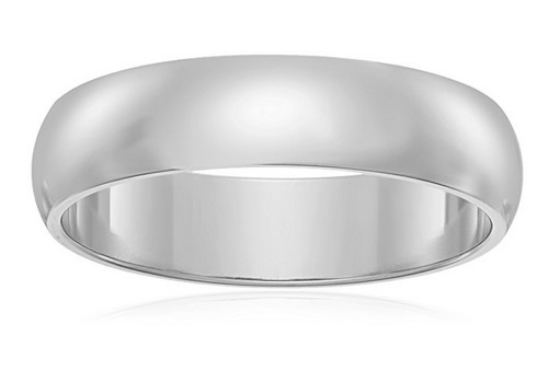 mens classic white gold wedding band under $100