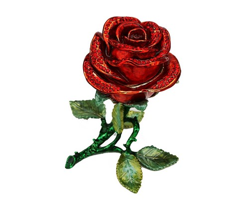 red rose with swarovski crystal for 15 year wedding anniversary gift
