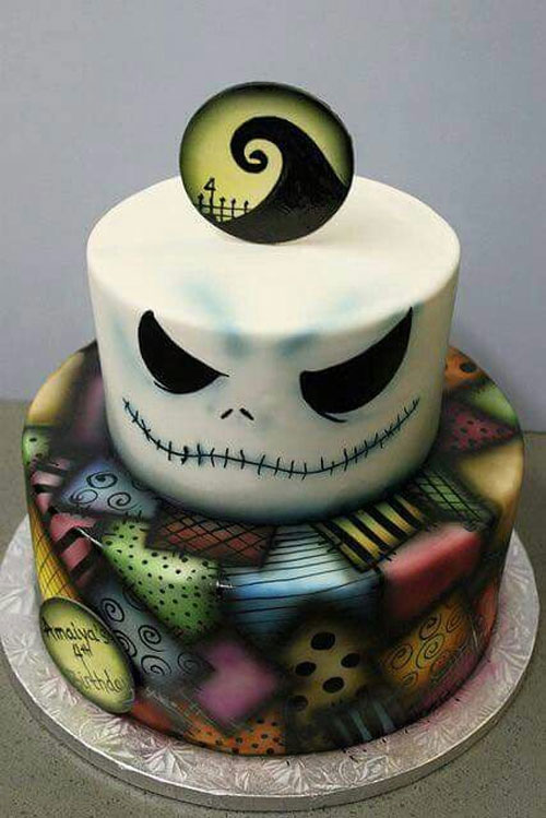 Nightmare Before Christmas Baby Shower Cake Topper