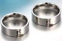 silver jack and sally couple rings