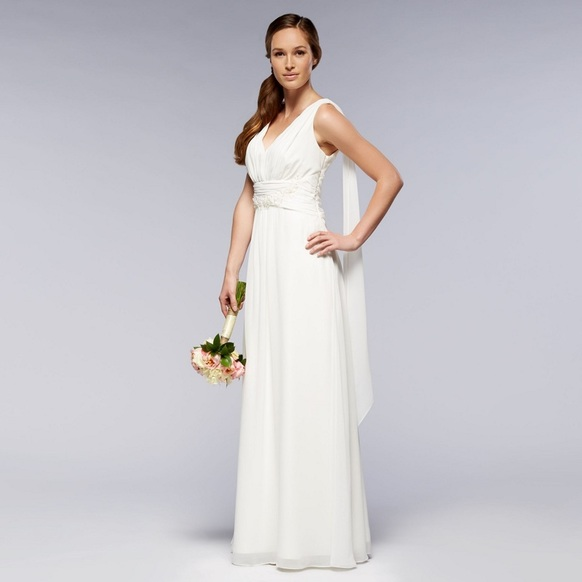debenhams long wedding dress