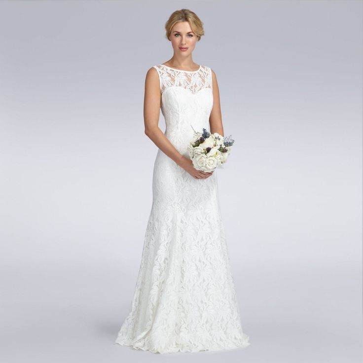 debenhams sleeveless wedding dress