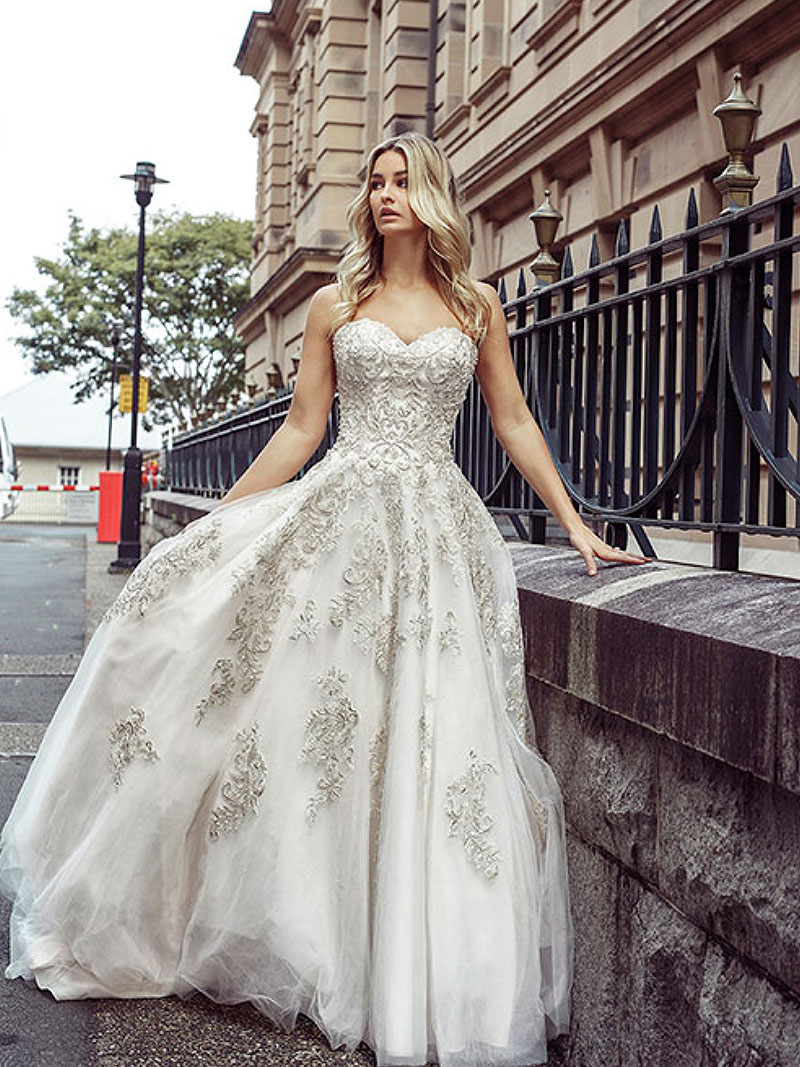 desi strapless wedding dress brisbane