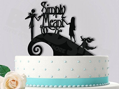 simply meant to be cake topper