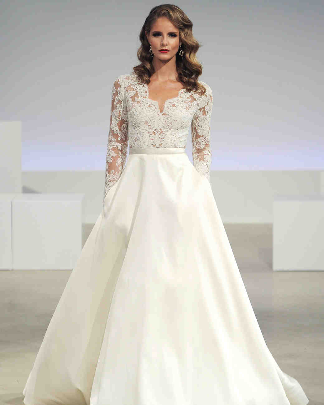 a-line wedding dresses with pockets and sleeves