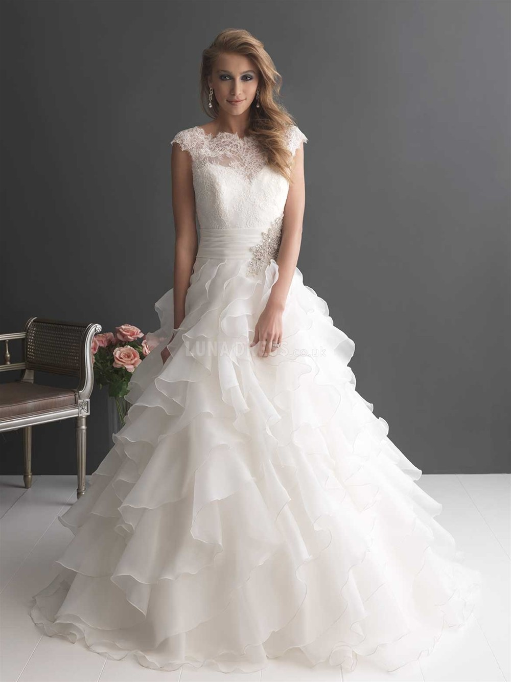 ball gown wedding dress for pregnant bride