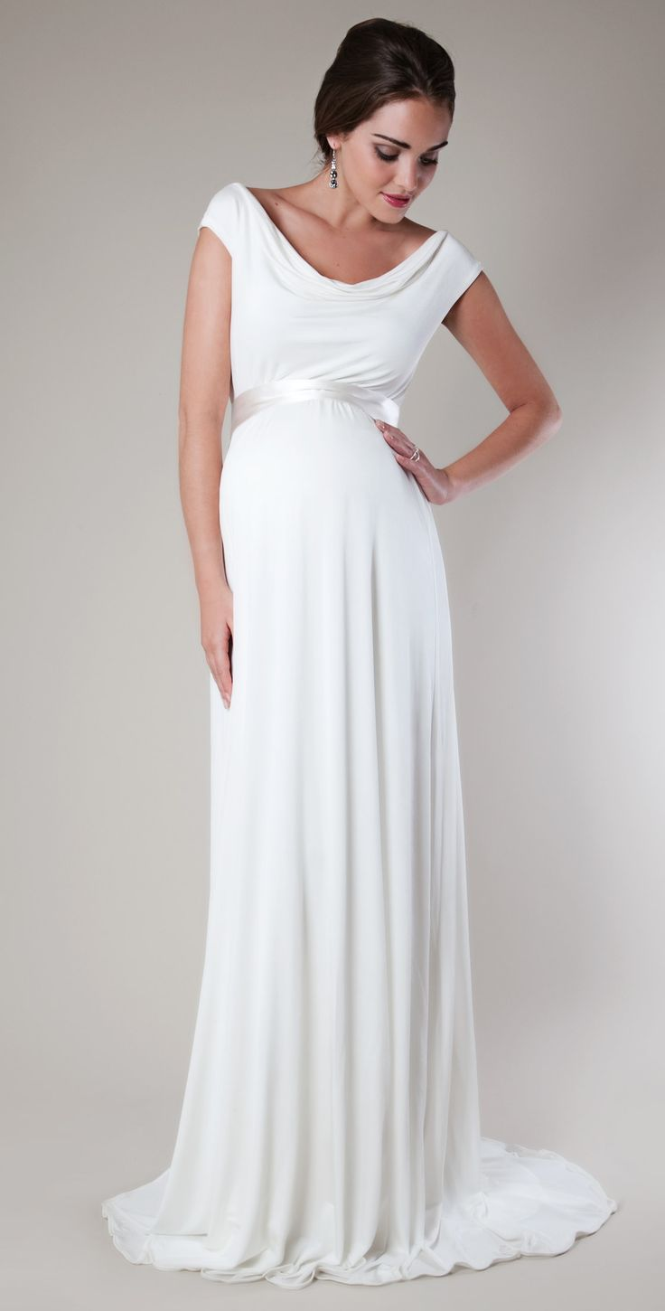 floor length wedding dresses for pregnant women