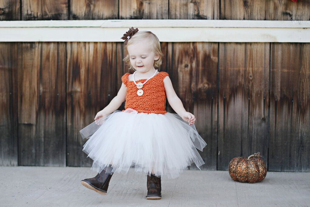 ivory burnt orange baby wedding dress
