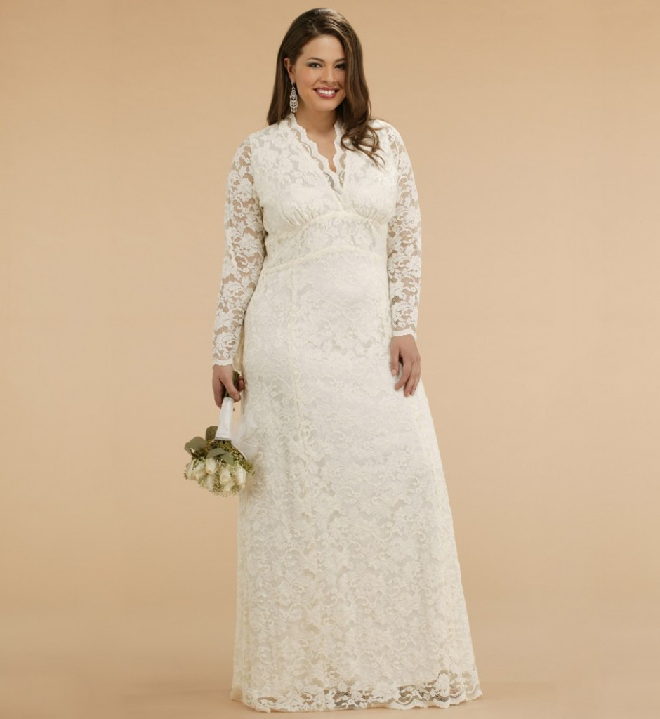 vintage plus size wedding dress with jacket