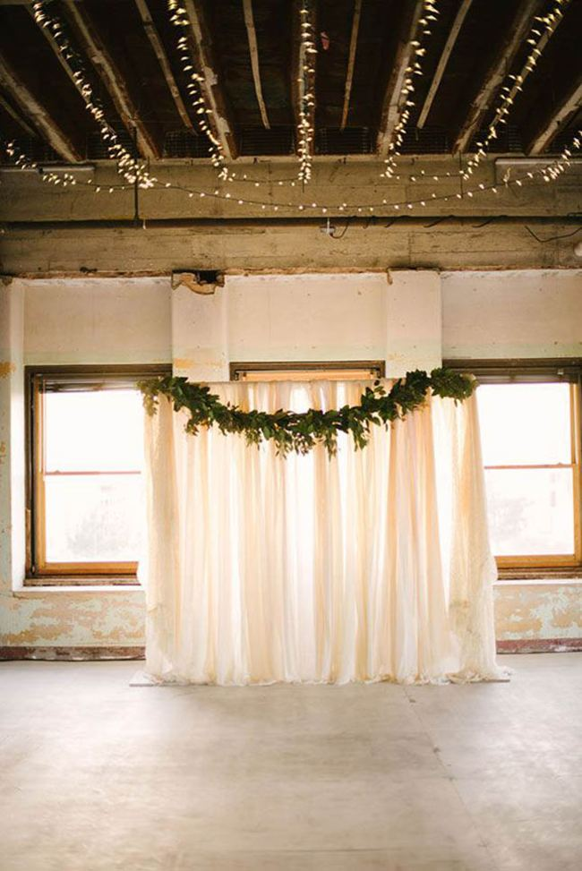 DIY Fabric Wedding Backdrop