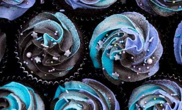 Vegan Galaxy Cupcakes