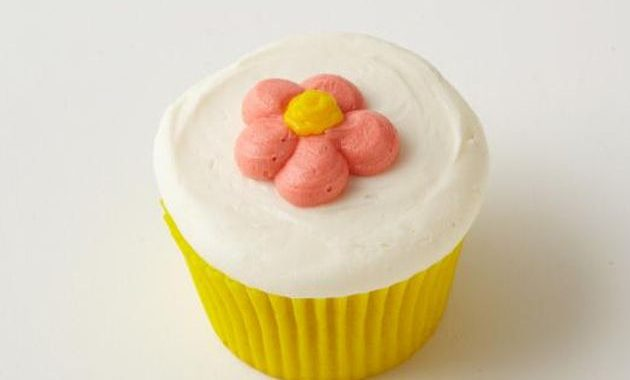 Whimsical Flower Wedding Cupcake