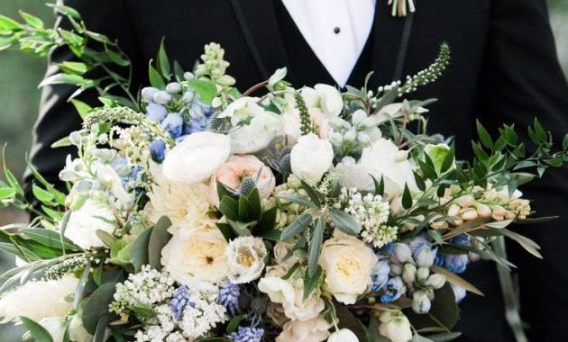 Delphinium Wedding Flower With White Flowers