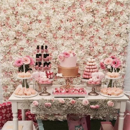 Baby Shower Flower Walls Wedding Backdrops Artifical Silk Rose Hydrangea Background For Romantic Wedding