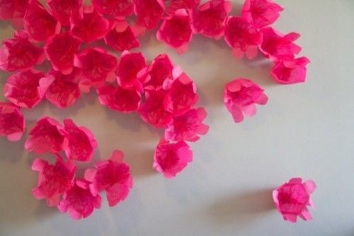 Bright Paper Floral Wedding Backdrop