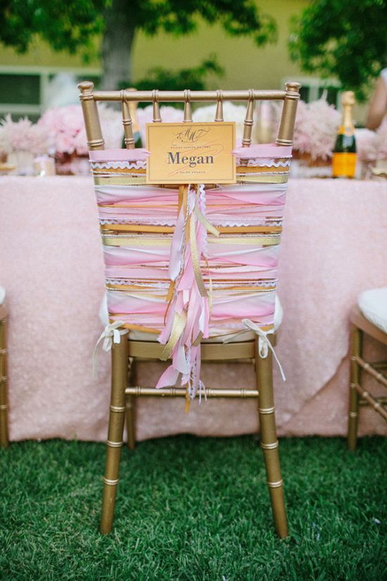 Ombre Coral Combination For Wedding Chair Decoration