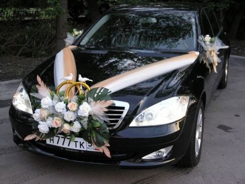Wedding Car Decoration Ideas With Flowers Birds And Ribbons