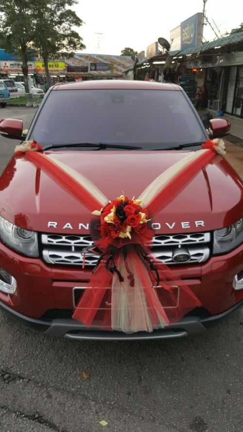 Wedding Car Decoration Ideas With Ribbons And Flowers