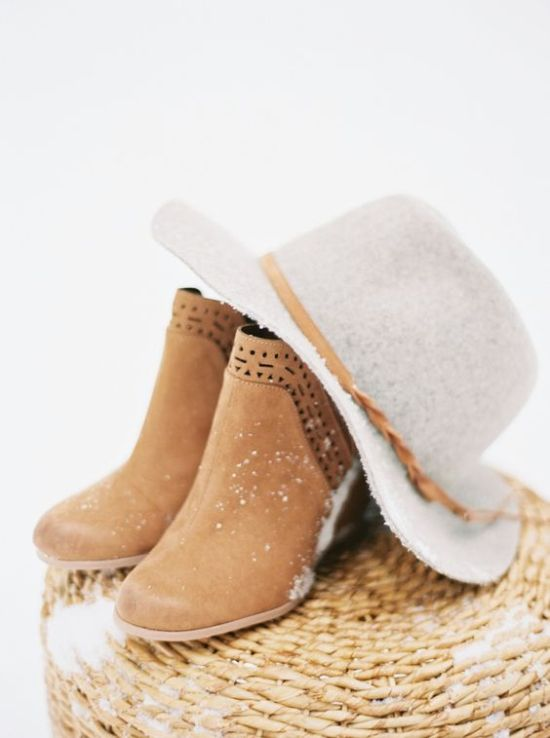 Amber Laser Cut Boho Winter Wedding Boots