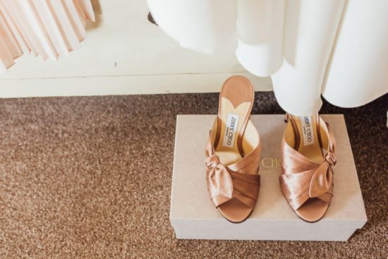 Copper Knotted Wedding Mules By Jimmy Choose