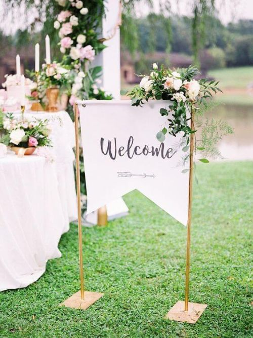 A Warm Welcome Wedding Sign