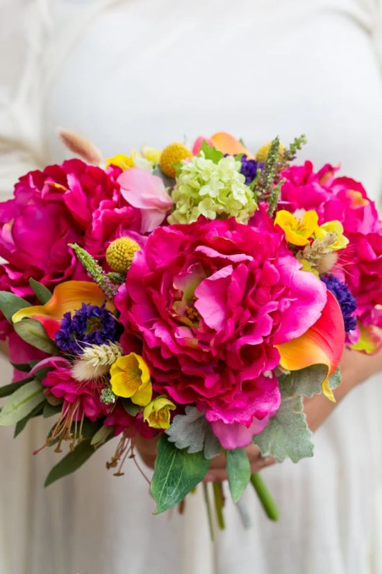 Artificial Vibrant Wedding Bouquet
