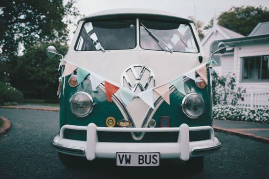 Campervan Just Married Car Bunting