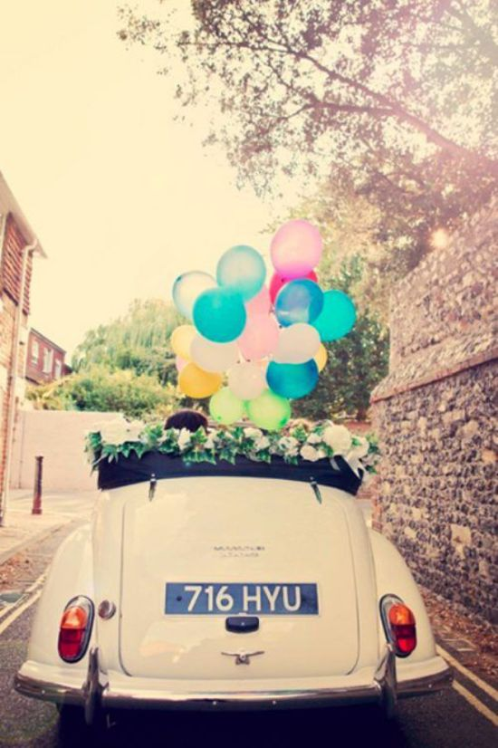 Getaway Car With Balloons