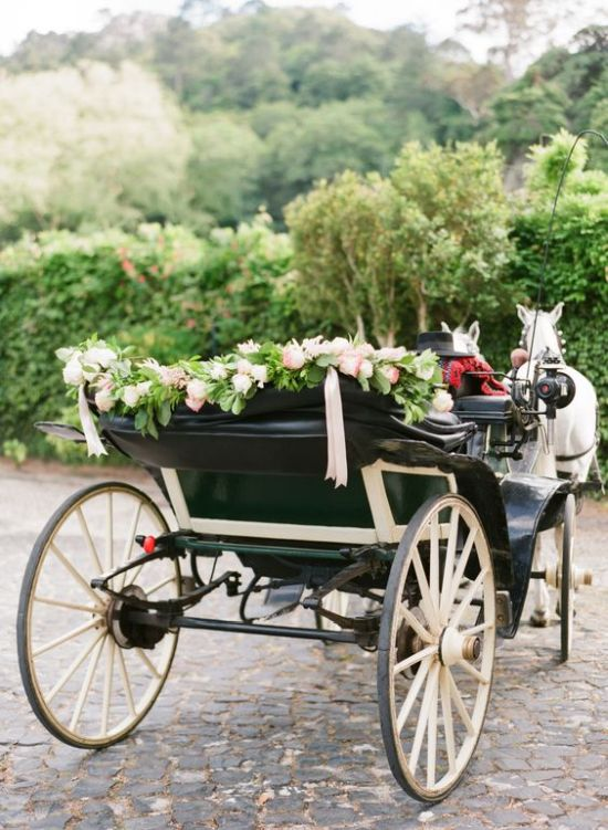 Horse And Carriage For Wedding Transport