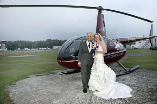 Philip Chambers Wedding Helicopter