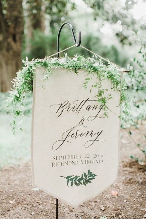 Simple And Uncluttered Wedding Sign