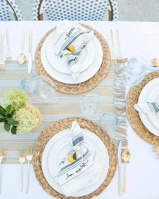 Sunny And Stylish Outdoor Tablescape
