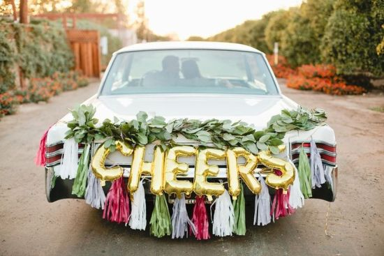 Unique Wedding Car Decoration With Balloons