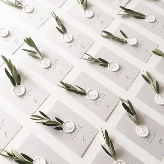 Wedding Seating Plan With Wax Seals