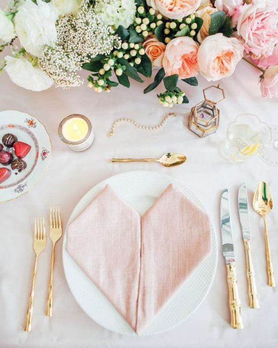 Wedding Tablescape With Delicate Florals