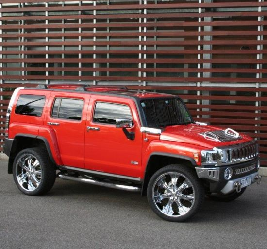 H3 Hummer Red Wedding Car