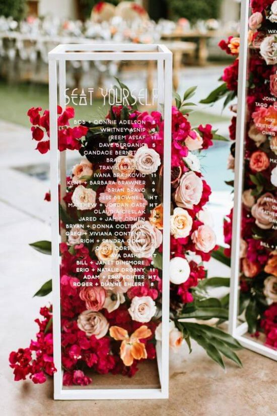 Wedding Seating Plan Idea With Acrylic Case