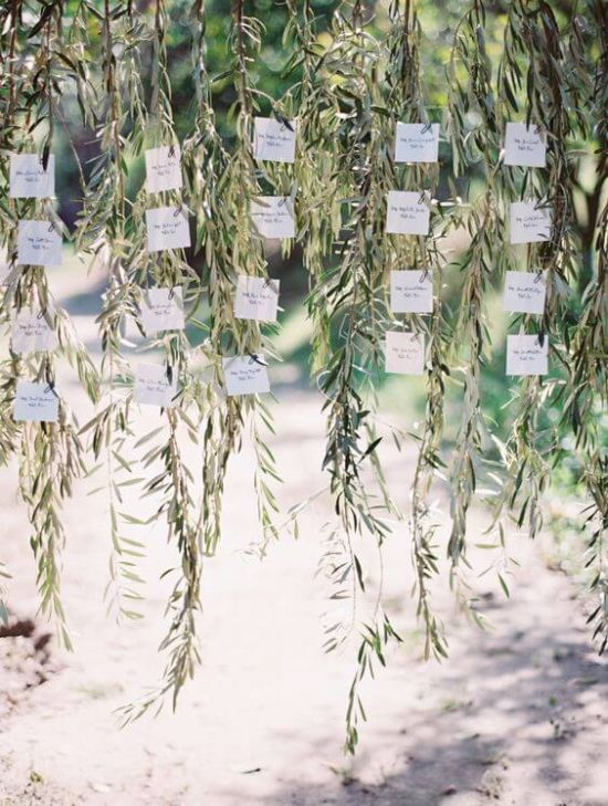 Wedding Seating Plan Idea With Olives With Escort Cards
