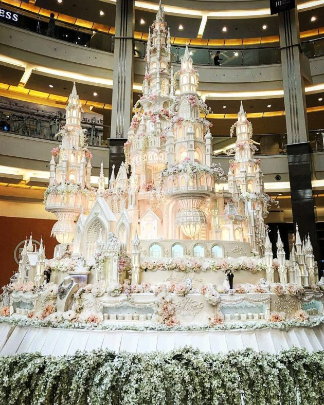 Awesome Castle Wedding Cake With Epic Towers